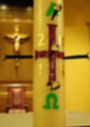 Paschal Candle 2015, Holy cross Church, Springfield, MA