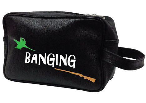 BANGING SHOOTING LEATHER WASHBAG