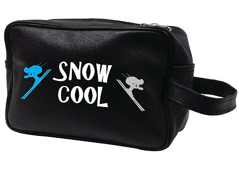 SNOW COOL LEATHER WASHBAG