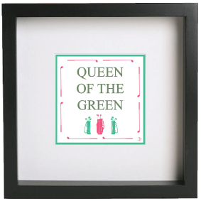 FRAMED PICTURE QUEEN OF THE GREEN
