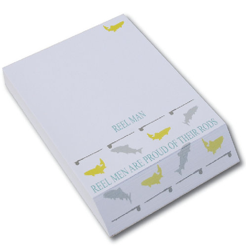 REEL MEN ARE PROUD OF THEIR RODS DESK NOTE PAD