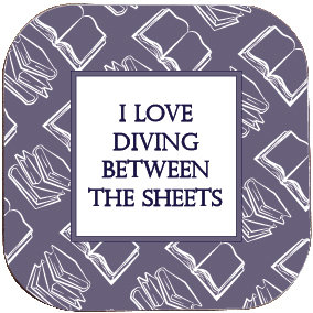 BOOK COASTER - I LOVE DIVING BETWEEN THE SHEETS