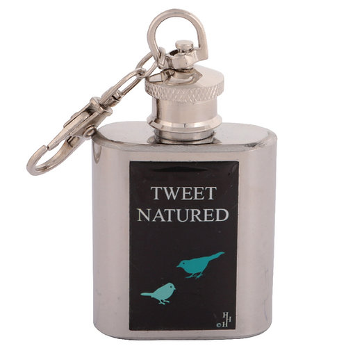 TWEET NATURED / BIRD WATCHING - KERYRING HIPFLASK