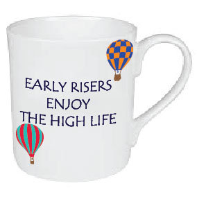EARLY RISERS HOT AIR BALLOONIST MUG