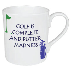 COMPLETE AND PUTTER MADNESS GOLF MUG