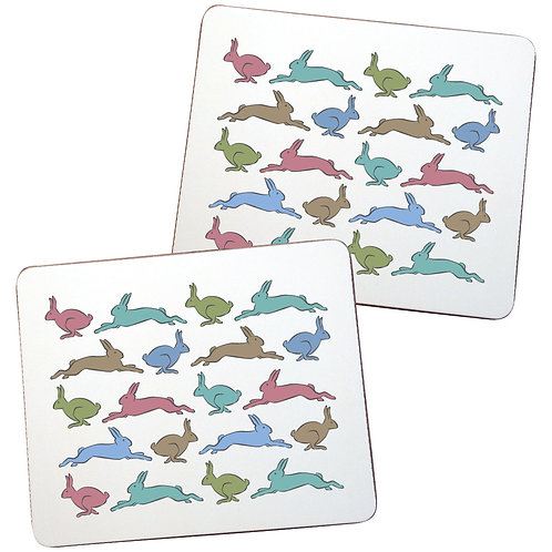 RUNNING HARE PLACEMATS - sold in pairs