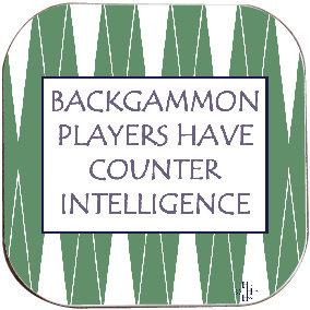 BACKGAMMON COASTER