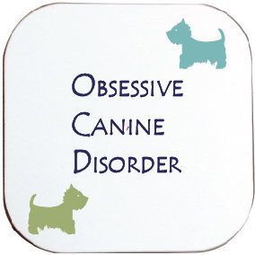 WESTIE TERRIER DOG COASTER