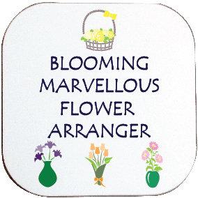 BLOOMING MARVELLOUS FLOWER ARRANGER COASTERUG