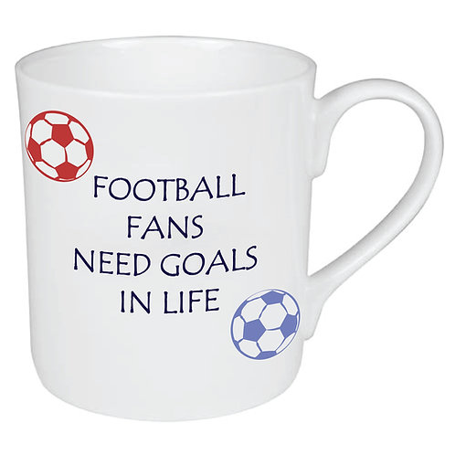 FOOTBALL PLAYERS NEED GOALS IN LIFE MUG / SOCCER