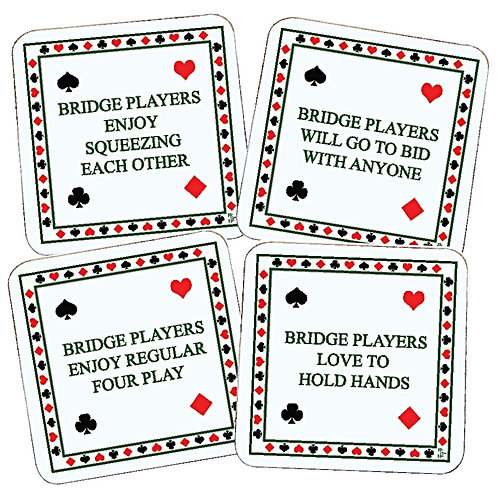 NAUGHTY BRIDGE COASTERS SET