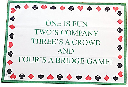 BRIDGE TEATOWEL
