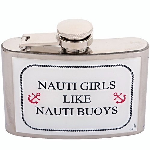 NAUTI GIRLS / NAUTICAL / BOATING / SAILING - HIPFLASK