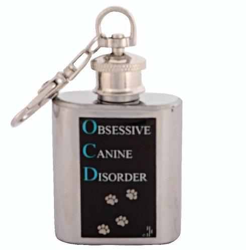 OBSESSIVE CANINE DISORDER / DOG - KEYRING HIPFLASK