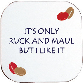 RUCK AND MAUL RUGBY COASTER