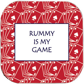 RUMMY IS MY GAME COASTER