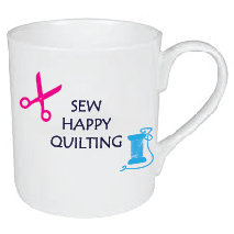 SEW HAPPY QUILTING MUG