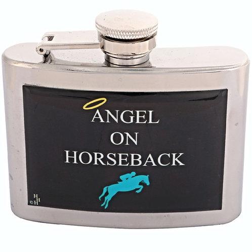 ANGEL  ON HORSEBACK / HORSE RIDING - HIPFLASK