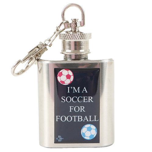 SOCCER FOR FOOTBALL - KEYRING HIPFLASK