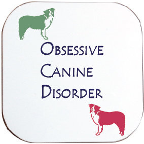 BORDER COLLIE DOG COASTER