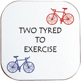TWO TYRED TO EXERCISE CYCLING COASTER