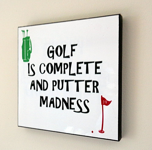 GOLF PUTTER MADNESS PICTURE PANEL