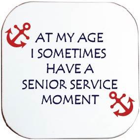 ROYAL NAVY SENIOR SERVICE COASTER
