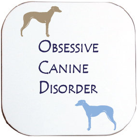 GREYHOUND / LURCHER / WHIPPET DOG COASTER