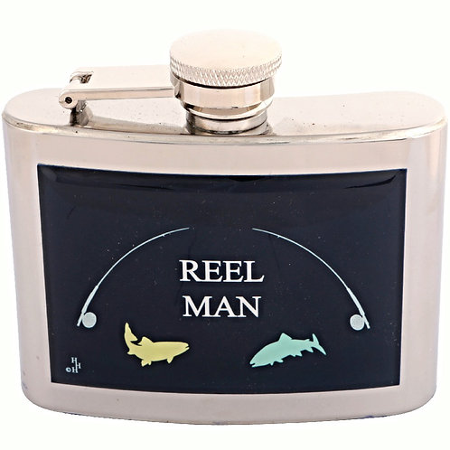 REEL MAN / FISHING - HIPFLASK