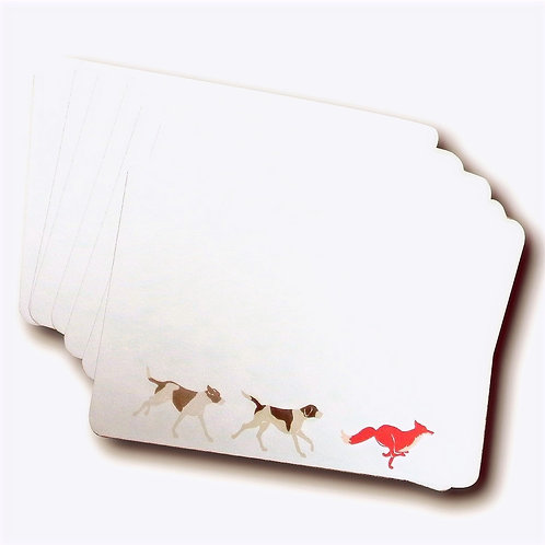 SET OF 6 FOX AND HOUNDS POSTCARDS