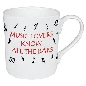 MUSIC LOVERS KNOW ALL THE BARS MUG