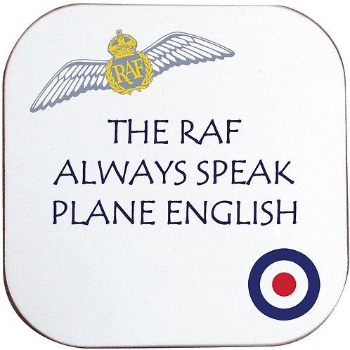 PLANE ENGLISH RAF COASTER