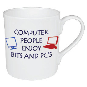 COMPUTER PEOPLE ENJOY BITS AND PC'S MUG