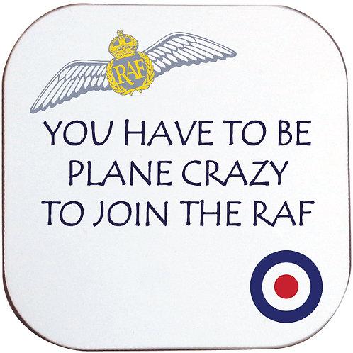 PLANE CRAZY RAF COASTER