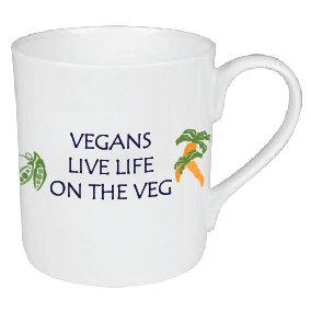 VEGANS LIVE LIFE ON THE VEG MUG