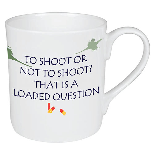 LOADED QUESTION SHOOTING MUG