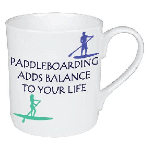 PADDLEBOARDING ADDS BALANCE TO LIFE MUG
