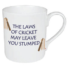 THE LAWS OF CRICKET MAY LEAVE YOU STUMPED MUG
