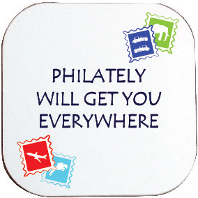 PHILATELY COASTER