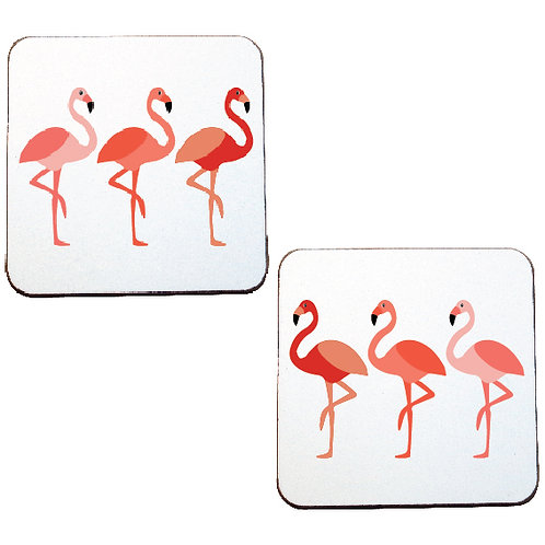FLAMINGO COASTERS - sold as a pair