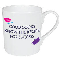 GOOD COOKS KNOW THE RECIPE FOR SUCCESS MUG