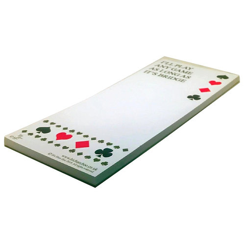 I'LL PLAY ANY GAME AS LONG AS IT IS BRIDGE MAGNETIC SHOPPING LIST