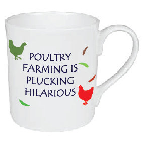 PLUCKING HILARIOUS MUG