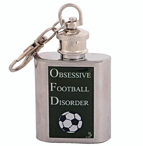 OBSESSIVE FOOTBALL / SOCCER - KEYRING HIPFLASK