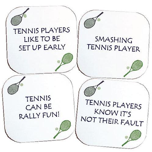 SET OF 4 TENNIS COASTERS