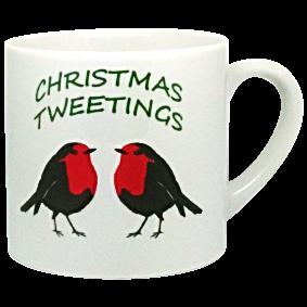 CHRISTMAS TWEETINGS HALF SIZE MUG