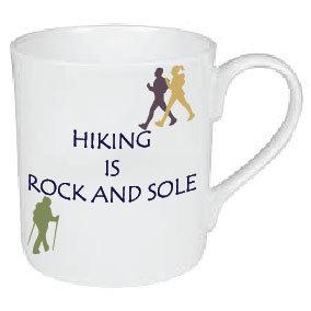 HIKING IS ROCK AND SOLE MUG