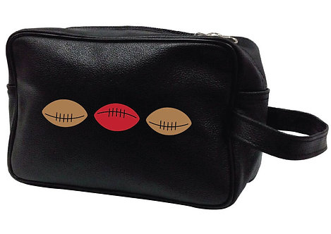 RUGBY  BALLS LEATHER WASHBAG