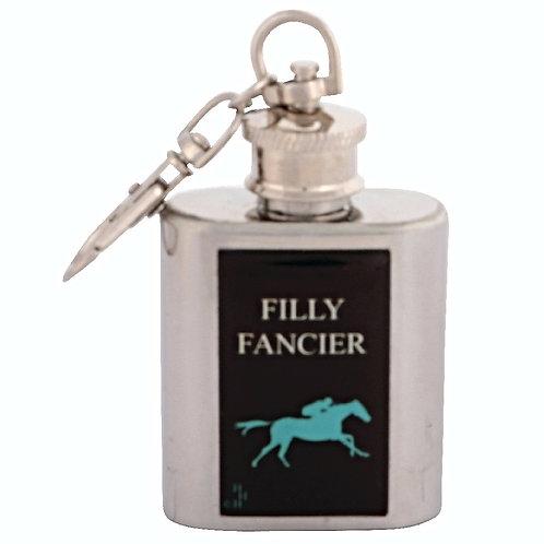 FILLY FANCIER / HORSE RACING - KEYRING HIPFLASK