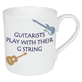 GUITARIST PLAY WITH THEIR G STRING / MUSIC MUG